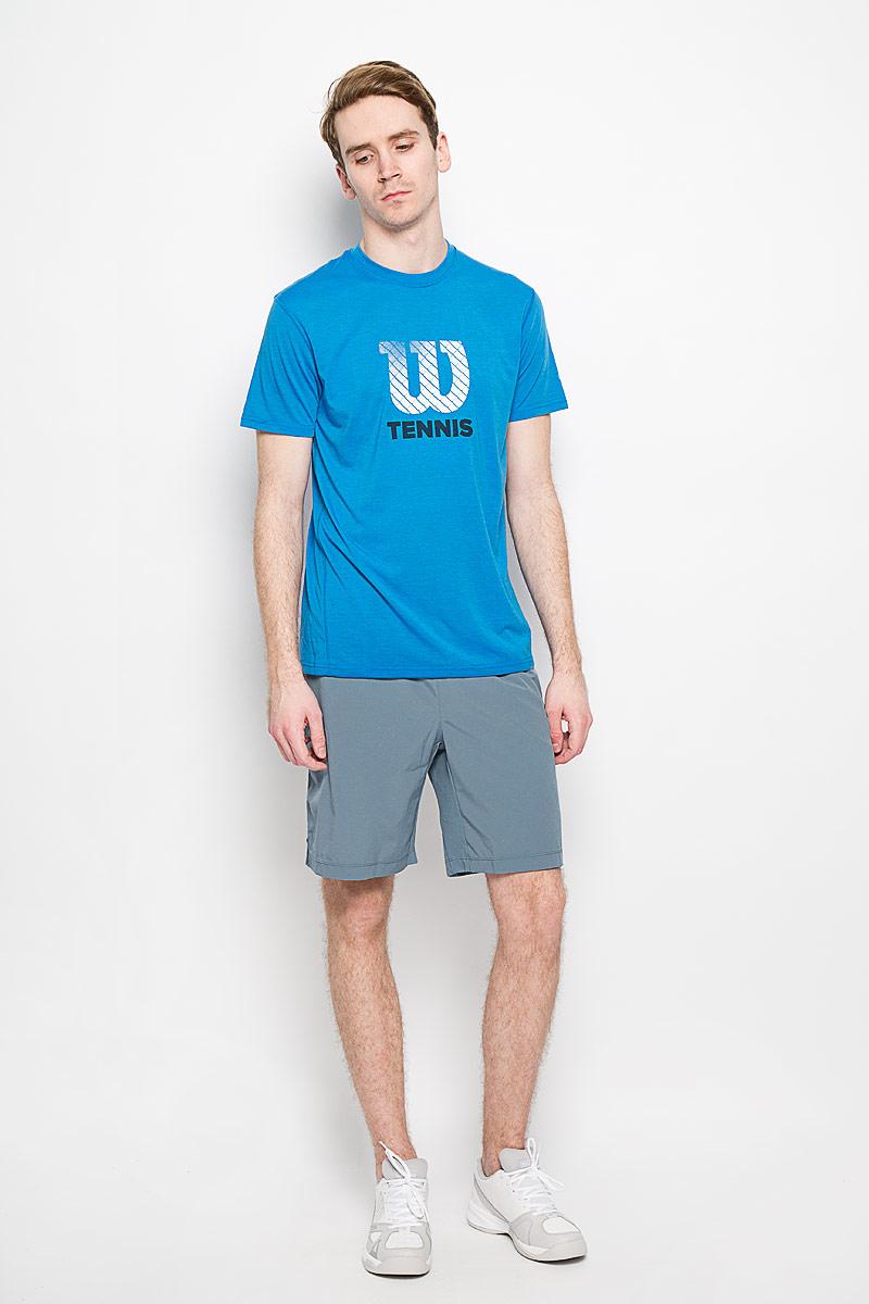 ШортыWRA743202Мужские шорты для тенниса Wilson Rush 9 Woven - это незаменимый атрибут в гардеробе любого спортсмена. Стильные удобные шорты выполнены из 100% полиэстера, благодаря чему превосходно сидят, не стесняют движений и великолепно отводят влагу, оставляя тело сухим даже во время интенсивных тренировок. Модель дополнена широкой эластичной резинкой на талии. Объем пояса регулируется при помощи шнурка-кулиски. Шорты имеют два втачных кармана спереди и небольшие разрезы в боковых швах. Устремляясь за очередным укороченным ударом и высоким мячом, используйте всю силу ног, а легкие шорты помогут вам в этом: они подарят комфорт и полную свободу движений. Эти модные шорты послужат отличным дополнением к вашему спортивному гардеробу. В них вы всегда будете чувствовать себя уверенно и комфортно.