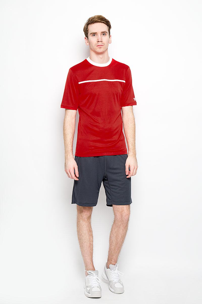 Шорты для тенниса мужские nVision Elite 9 Knit Short. WRA702902WRA702902Мужские шорты для тенниса nVision Elite 9 Knit Short - это незаменимый атрибут в гардеробе любого спортсмена. Стильные удобные шорты выполнены из 100% полиэстера, благодаря чему превосходно сидят, не стесняют движений и великолепно отводят влагу, оставляя тело сухим даже во время интенсивных тренировок. Модель дополнена широкой эластичной резинкой на талии. Объем пояса регулируется при помощи шнурка-кулиски. Спереди шорты имеют два втачных кармана. Устремляясь за очередным укороченным ударом и высоким мячом, используйте всю силу ног, а легкие шорты помогут вам в этом: они подарят комфорт и полную свободу движений. Эти модные шорты послужат отличным дополнением к вашему спортивному гардеробу. В них вы всегда будете чувствовать себя уверенно и комфортно.