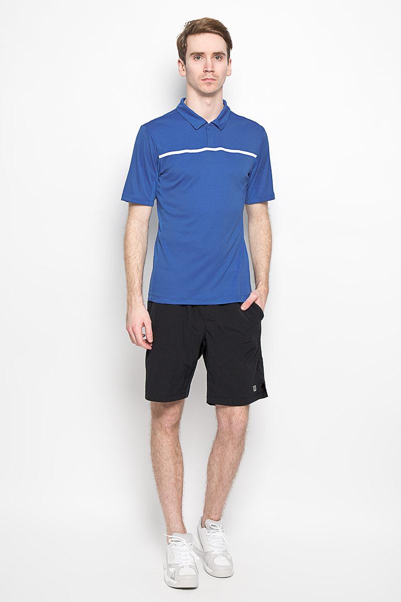 ПолоWRA725301Стильная мужская футболка для тенниса Wilson Rush Color Inset Polo, выполненная из полиэстера, обладает высокой теплопроводностью, воздухопроницаемостью и гигроскопичностью и великолепно отводит влагу, оставляя тело сухим даже во время интенсивных тренировок. Такая футболка превосходно подойдет для занятий спортом и активного отдыха. Модель с короткими рукавами и отложным воротником - идеальный вариант для занятий спортом. Такая футболка обеспечит свободу движений. Дополнительная вентиляция предусмотрена для лучшего воздухообмена. Эргономичные швы минимизируют натирание кожи, исключая дискомфорт. Бока модели и рукава дополнены перфорацией, сохраняя нормальную циркуляцию воздуха. Сверху футболка застегивается на две пластиковые пуговицы. Такая футболка подарит вам комфорт в течение всей игры и послужит замечательным дополнением к вашему гардеробу.