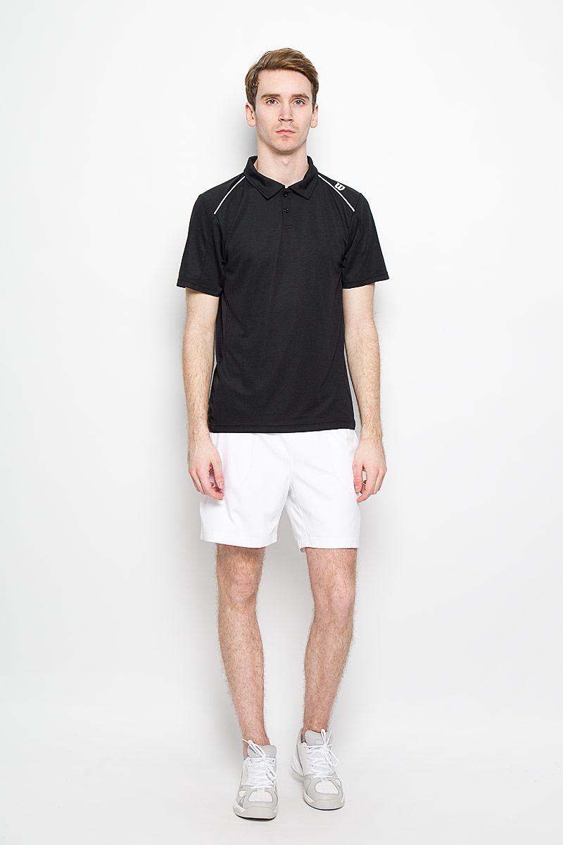 ФутболкаWRA703206Стильная мужская футболка для тенниса Wilson nVision Elite Polo, выполненная из полиэстера, обладает высокой теплопроводностью, воздухопроницаемостью, гигроскопичностью и великолепно отводит влагу, оставляя тело сухим даже во время интенсивных тренировок. Такая футболка превосходно подойдет для занятий спортом и активного отдыха. Модель с короткими рукавами и отложным воротником - идеальный вариант для занятий спортом. Такая футболка обеспечит свободу движений. Дополнительная вентиляция предусмотрена для лучшего воздухообмена. Эргономичные швы минимизируют натирание кожи, исключая дискомфорт. Сверху футболка застегивается на две пластиковые пуговицы. Такая футболка подарит вам комфорт в течение всей игры и послужит замечательным дополнением к вашему гардеробу.