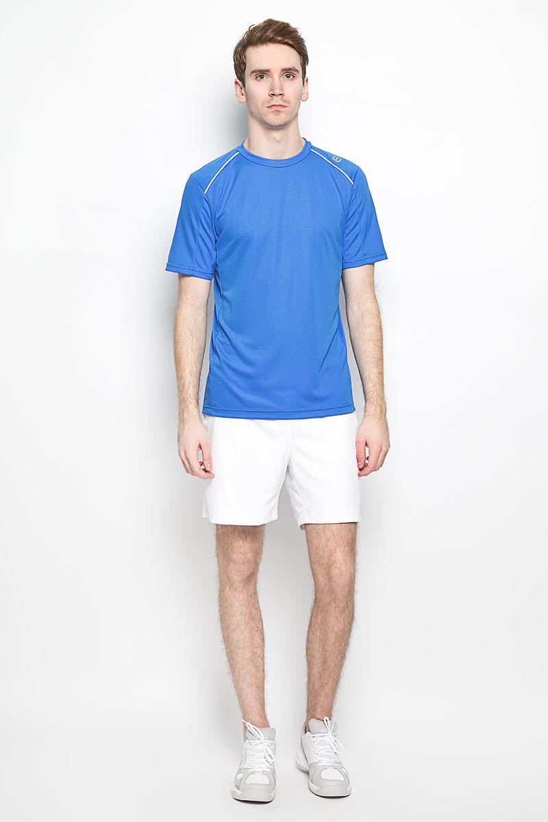 ФутболкаWRA703008Стильная мужская футболка для тенниса Wilson nVision Elite Crew, выполненная из полиэстера, обладает высокой теплопроводностью, воздухопроницаемостью и гигроскопичностью, а также великолепно отводит влагу, оставляя тело сухим даже во время интенсивных тренировок. Она превосходно подойдет для занятий спортом и активного отдыха. Модель с короткими рукавами и круглым вырезом горловины - идеальный вариант для занятий спортом. Такая модель подарит вам комфорт в течение всего дня и послужит замечательным дополнением к вашему гардеробу.