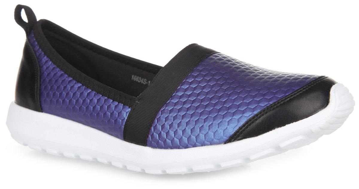 Туфли спортивные женские. 16634S-116634S-1-2SМодные спортивные туфли от Daze - отличный вариант на каждый день. Модель выполнена из синталина с текстильными вставками и оформлена тиснением в виде шестиугольников. Подкладка исполнена из мягкого синталина. Ярлычок на заднике предназначен для удобства обувания. Протектор на подошве обеспечивает идеальное сцепление с любой поверхностью. Удобные спортивные туфли - необходимая вещь в гардеробе каждой современной женщины.