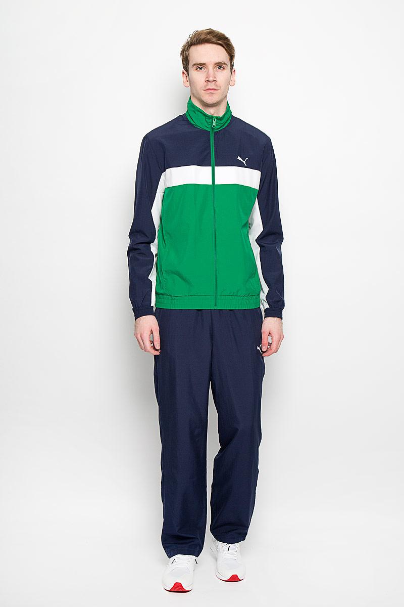 Спортивный костюм мужской ESS Woven Suit op. 8318940983189409Мужской спортивный костюм Puma ESS Woven Suit op - это современный вариант классической куртки и брюк, изготовленных из функциональной ткани для динамичного комфорта и неизменного стиля. Костюм выполнен из полиэстера. Ветровка с втачными рукавами застегивается на застежку-молнию. По бокам изделия расположены два прорезных кармана. Манжеты и низ изделия дополнены эластичной резинкой. Ветровка оформлена вышивкой в виде логотипа бренда. Брюки на поясе имеют широкую эластичную резинку, регулируемую шнурком. По бокам два прорезных кармана. Брюки также оформлены вышивкой в виде логотипа бренда. Такой костюм идеально подойдет для активного отдыха и занятий спортом, в нем вам будет удобно и комфортно!