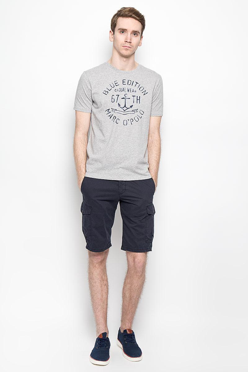 Футболка211402Мужская футболка Marc O`Polo выполнена из натурального хлопка. Материал изделия мягкий и приятный на ощупь, не сковывает движения и позволяет коже дышать. Футболка с короткими рукавами имеет круглый вырез горловины и оформлена спереди оригинальными надписями. Такая модель подарит вам комфорт в течение всего дня и послужит замечательным дополнением к вашему гардеробу.