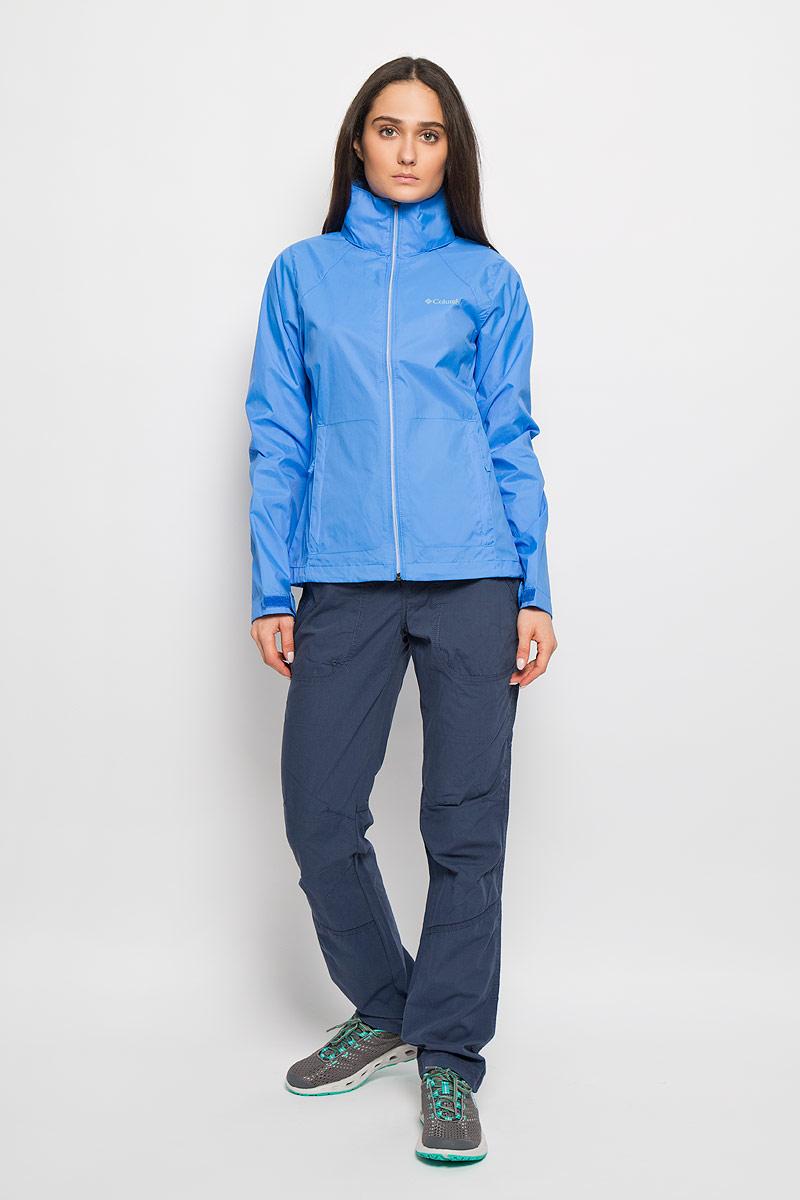 Ветровка женская Switchback II Jacket. 14948811494881_485Легкая женская куртка Columbia Switchback II Jacket отлично подойдет для активного отдыха и туризма. Модель с капюшоном выполнена из высококачественного материала и застегивается на застежку-молнию. Ткань обработана специальной пропиткой для защиты от влаги. Предусмотрена дополнительная вентиляция на спине. Манжеты затягиваются хлястиками на липучки. Капюшон оснащен ветрозащитной планкой и регулируется при помощи шнурка со стоппером. Спереди изделие дополнено двумя втачными карманами на молниях, а внутри - двумя накладными карманами. Низ ветровки стягивается кулиской при помощи карабина. Благодаря специальному покрою капюшон можно убрать во внутреннюю часть воротника. Благодаря своей функциональности модель станет незаменимой вещью в путешествии. В такой куртке вы всегда будете чувствовать себя уютно и комфортно.