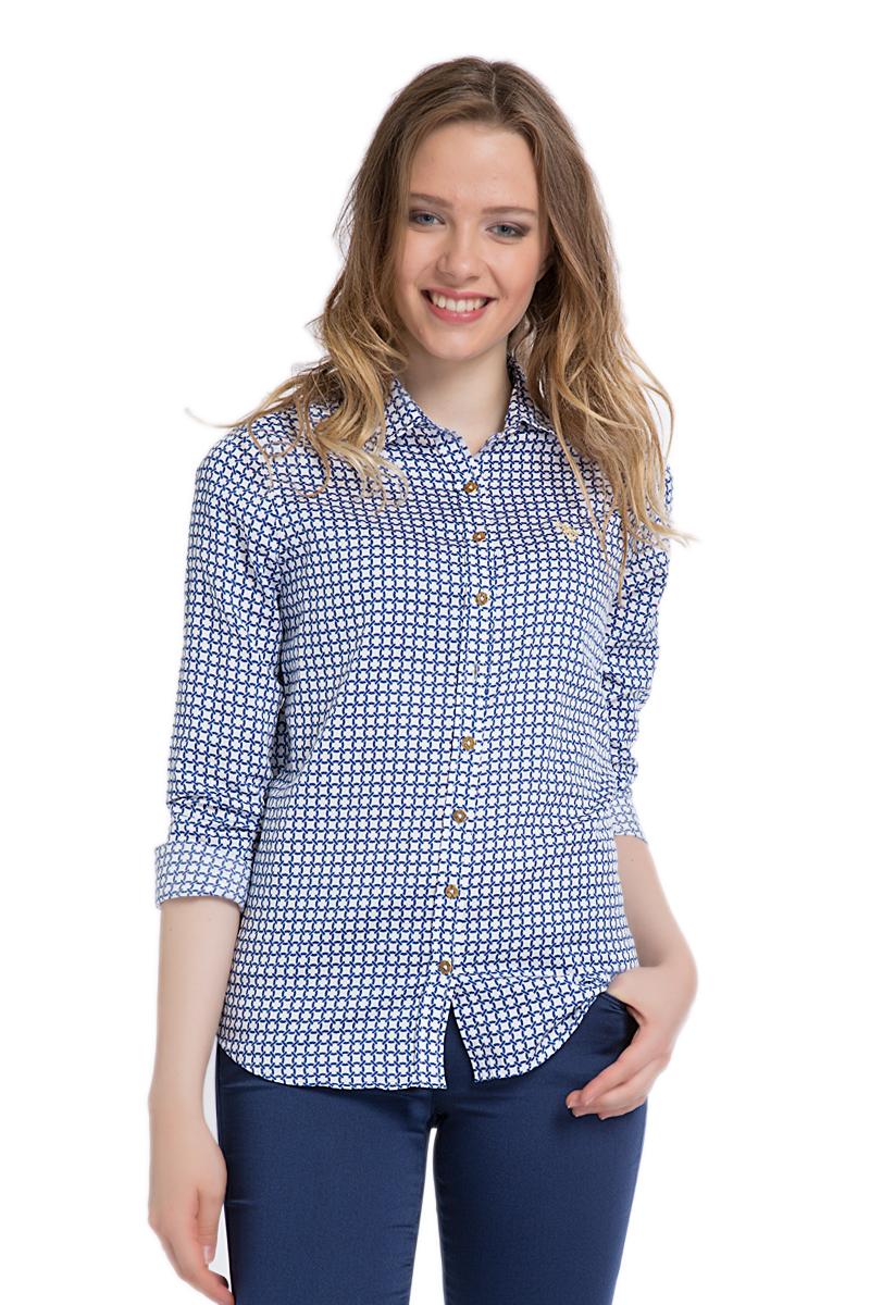 Рубашка женская. G082SZ004HELGAMARINEG082SZ004HELGAMARINE_VR033