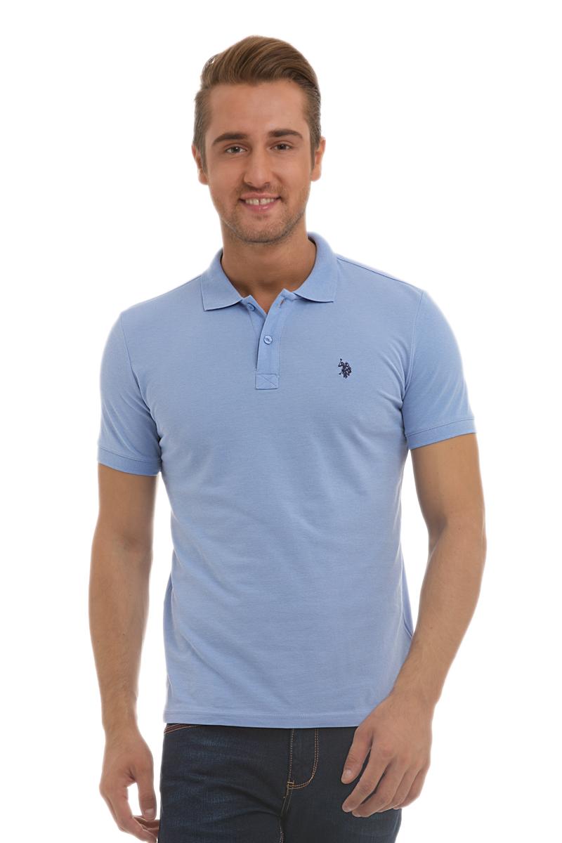 ПолоG081GL0110GTP04IY6_BY0001Стильная мужская футболка-поло U.S. Polo Assn., выполненная из высококачественного хлопка, обладает высокой теплопроводностью, воздухопроницаемостью и гигроскопичностью, позволяет коже дышать. Модель с короткими рукавами и отложным воротником - идеальный вариант для создания оригинального современного образа. Сверху футболка-поло застегивается на две пуговицы. Воротник и низ рукавов выполнены из трикотажной резинки. Модель оформлена на груди небольшой вышивкой.