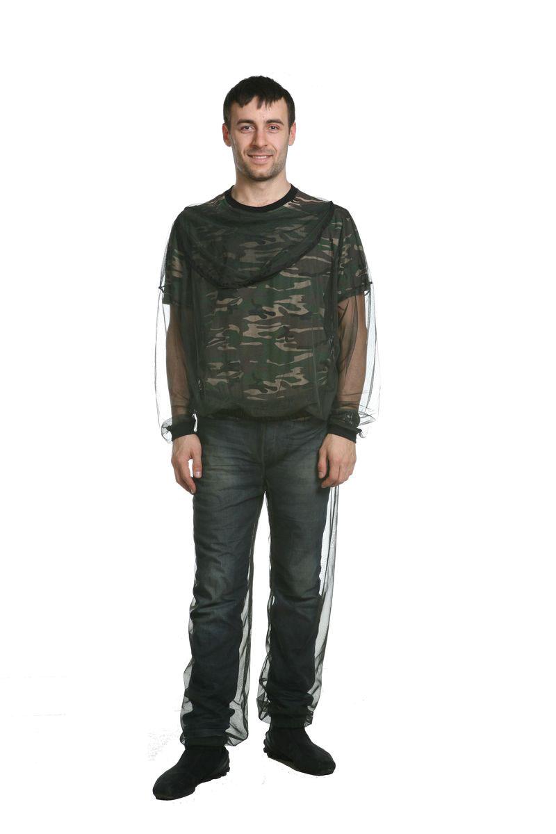 Костюм рыболовный мужской. 51715171Костюм из сетки для защиты от комаров. Лицевая часть капюшона пристегивается к затылочной на молнию. Низ рукавов на трикотажной манжете.