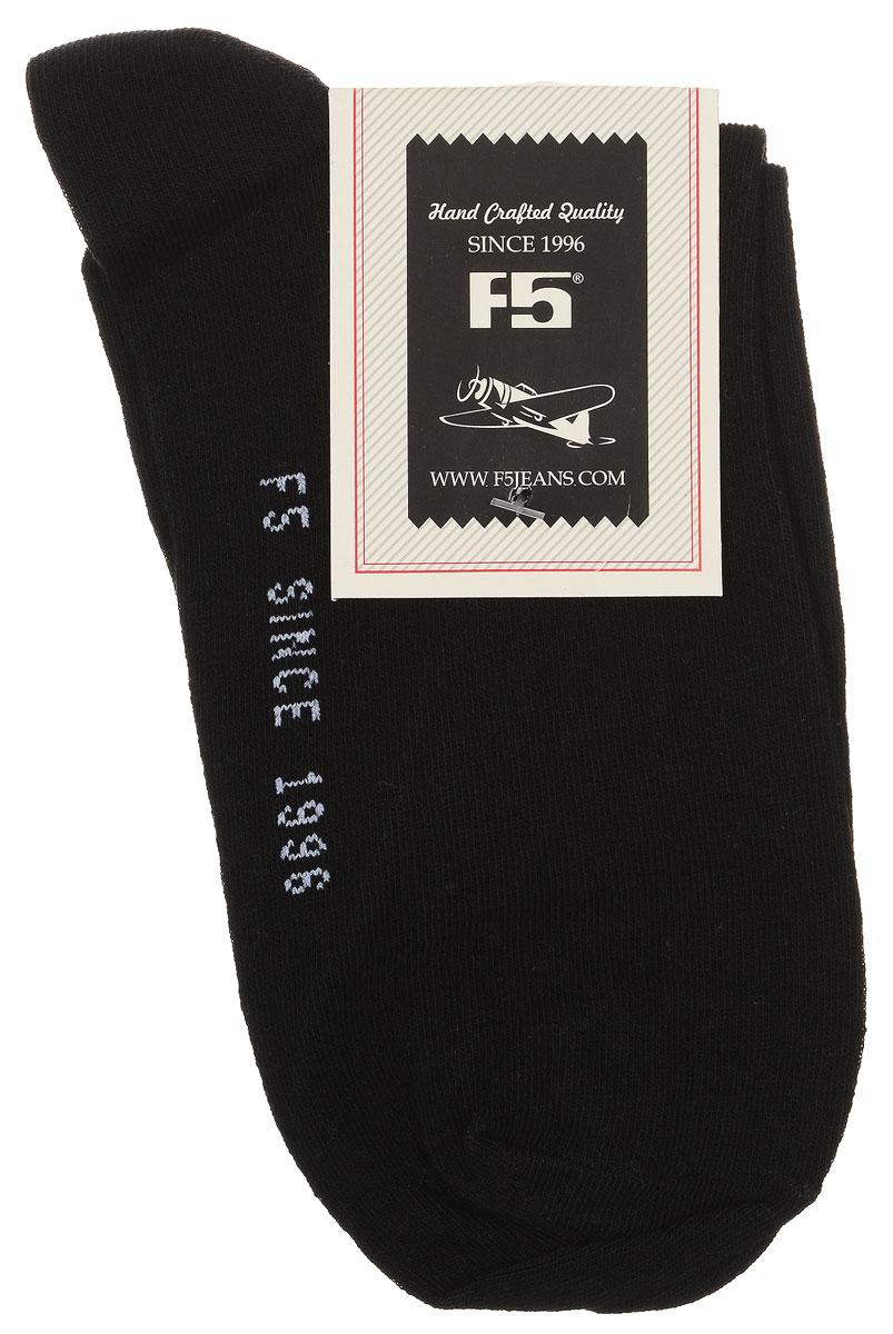 900007_S12, black/whiteУдобные носки F5, изготовленные из высококачественного комбинированного материала, очень мягкие и приятные на ощупь, позволяют коже дышать. Эластичная резинка плотно облегает ногу, не сдавливая ее, обеспечивая комфорт и удобство. Модель с классическим паголенком. Практичные и комфортные носки великолепно подойдут к любой вашей обуви.