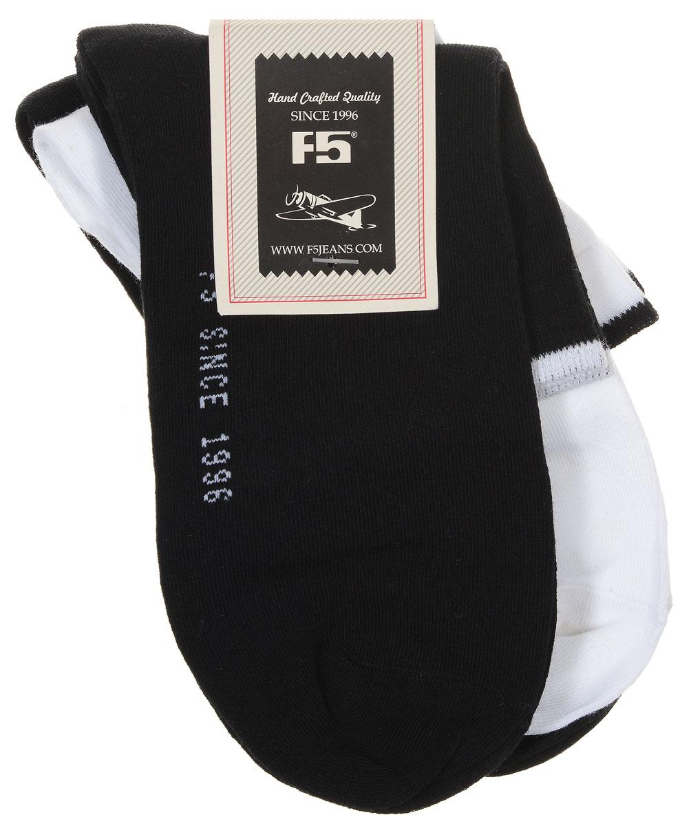 Носки900005_S12, MIXУдобные носки F5, изготовленные из высококачественного комбинированного материала, очень мягкие и приятные на ощупь, позволяют коже дышать. Эластичная резинка плотно облегает ногу, не сдавливая ее, обеспечивая комфорт и удобство. Модель с классическим паголенком. Практичные и комфортные носки великолепно подойдут к любой вашей обуви. В комплекте 2 пары носков.