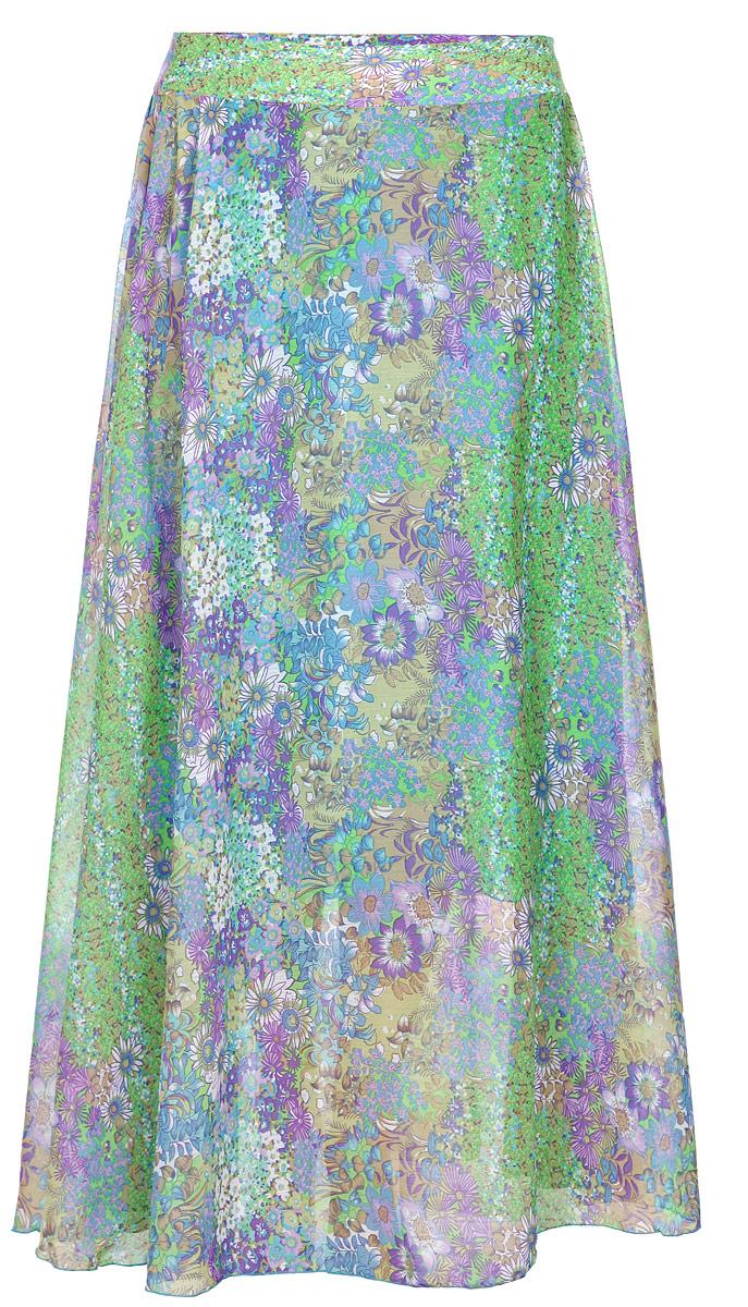 Юбка. R007129-107-004242-414_R007Модная юбка Milana Style изготовленная из полупрозрачного струящегося полиэстера, не раздражает кожу и хорошо вентилируется. Модель дополнена подкладкой из полиэстера. Юбка макси длины на широком поясе застегивается на потайную молнию в боковом шве. По всей длине модель оформлена цветочным принтом. Стильная юбка модной длины позволит вам создать неповторимый женственный образ. В таком наряде вы, безусловно, привлечете восхищенные взгляды окружающих.