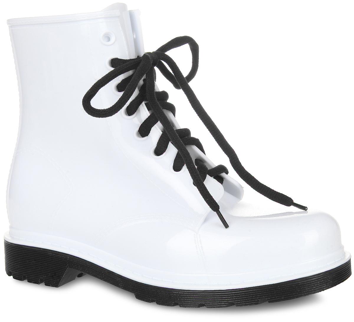 Ботинки резиновые женские. 15478S-115478S-1-4TСтильные женские ботинки от Cooper, выполненные из ПВХ, придутся вам по душе. Шнуровка надежно зафиксирует изделие на ноге. Съемная стелька EVA с текстильной поверхностью комфортна при движении. Протектор на подошве и на каблуке обеспечивает отличное сцепление на любой поверхности. В таких ботинках вашим ногам будет сухо и комфортно. Они поднимут вам настроение в любую, даже самую ненастную погоду!