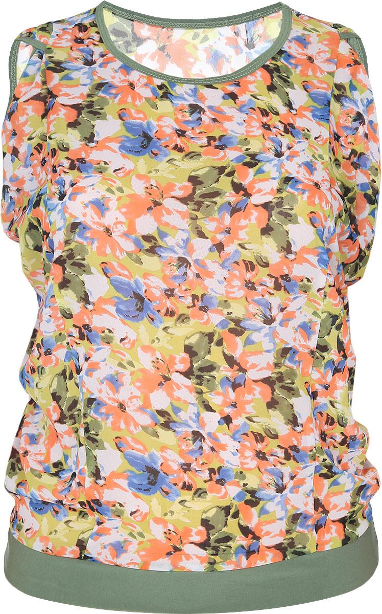Блузка725мСтильная женская блузка Milana Style, выполненная из качественного материала, подчеркнет ваш уникальный стиль и поможет создать женственный образ. Модель с короткими рукавами оригинального кроя и круглым вырезом горловины оформлена ярким цветочным принтом. Такая блузка будет дарить вам комфорт в течение всего дня и послужит замечательным дополнением к вашему гардеробу.