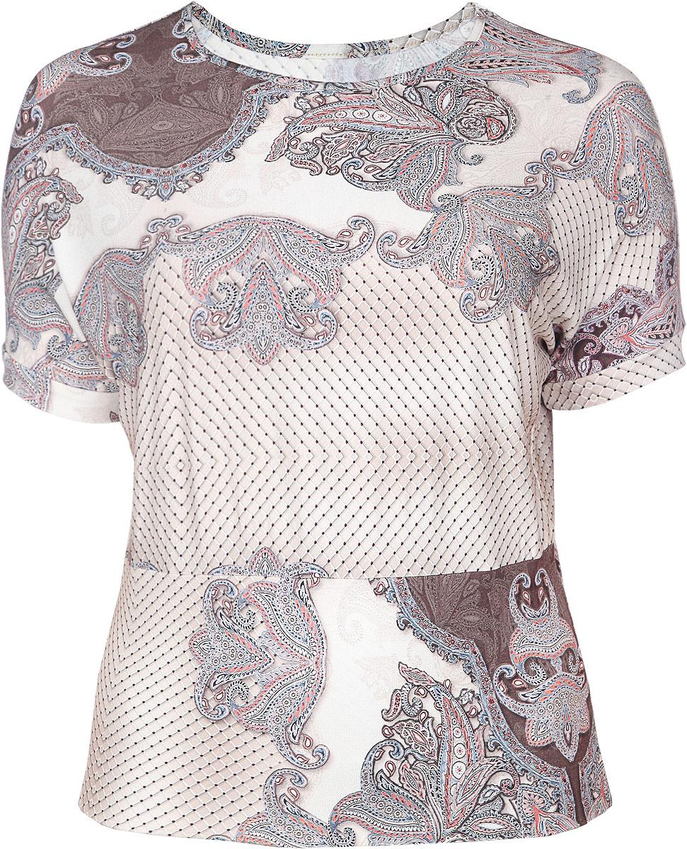 Блузка884мСтильная женская блузка Milana Style, выполненная из мягкой вискозы с добавлением лайкры, подчеркнет ваш уникальный стиль и поможет создать женственный образ. Модель с короткими рукавами и круглым вырезом горловины оформлена оригинальным принтом. Такая блузка будет дарить вам комфорт в течение всего дня и послужит замечательным дополнением к вашему гардеробу.