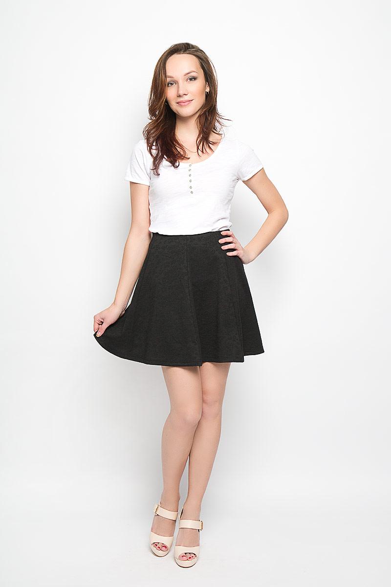 L-SC-2001_BLACKСтильная юбка-трапеция Moodo внесет женственные нотки в ваш модный образ. Модель выполнена из легкого трикотажного материала. Пояс юбки выполнен из широкой эластичной резинки. Модная юбка - основа гардероба настоящей леди. Она подчеркнет ваше отменное чувство стиля и безупречный вкус.
