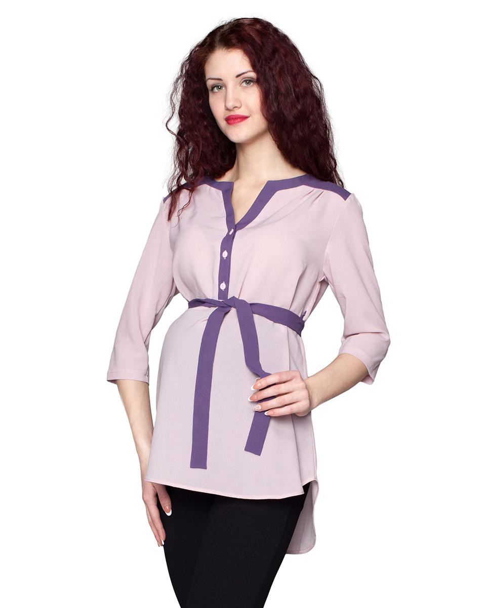 1-185518ВБлузка, выполненная в комбинации из однотонных полотен, будет радовать вас не только в период беременности, но и в период кормления малыша. Фэст — одежда по вашей фигуре.