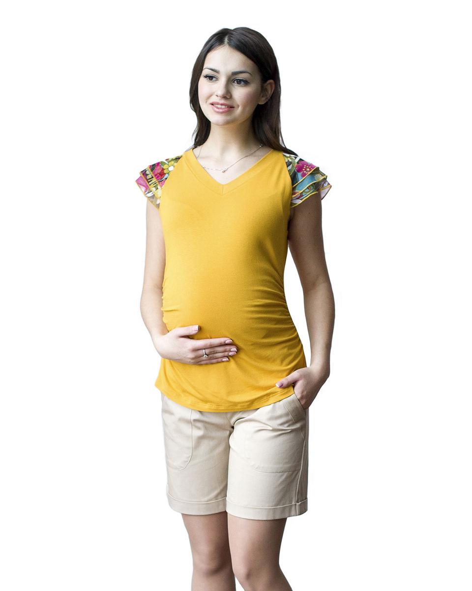 Блузка06509Яркая летняя блузка с рукавами крылышками из сетки, удачно сочетается с любыми предметами гардероба. Фэст — одежда по вашей фигуре.