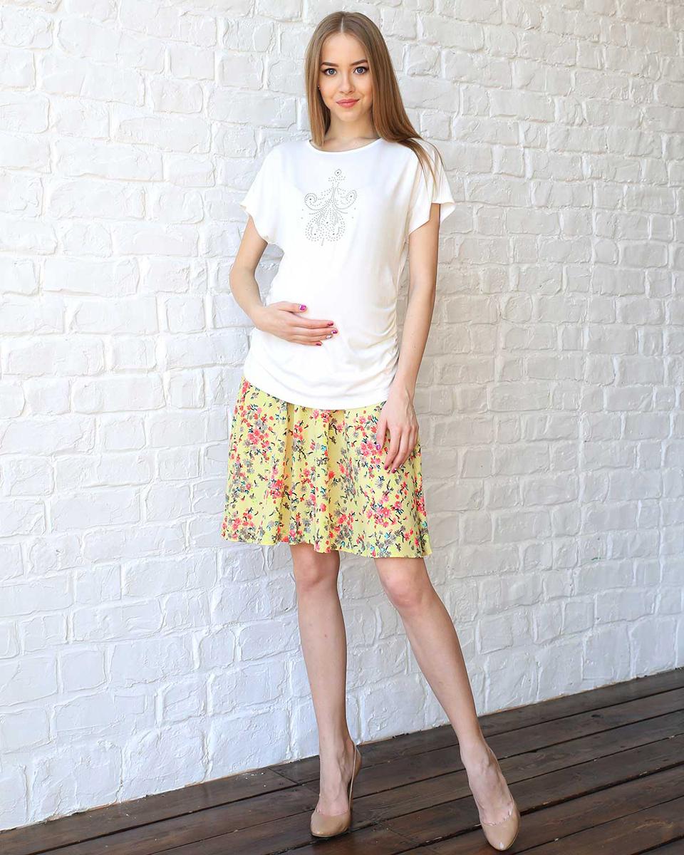 Юбка93501Яркая юбка с цветочным принтом будет незаменима в жаркую летнюю погоду. Эластичная вставка обеспечит комфорт растущему животику. Фэст — одежда по вашей фигуре.
