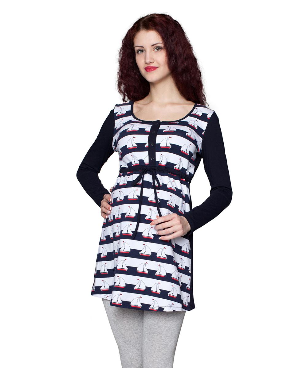 1-194505НЕЗамечательная туника, выполнена из натурального трикотажного полотна. Отличный повседневный вариант. Благодаря кнопкам, тунику можно носить и в период кормления малыша. Фэст — одежда по вашей фигуре.