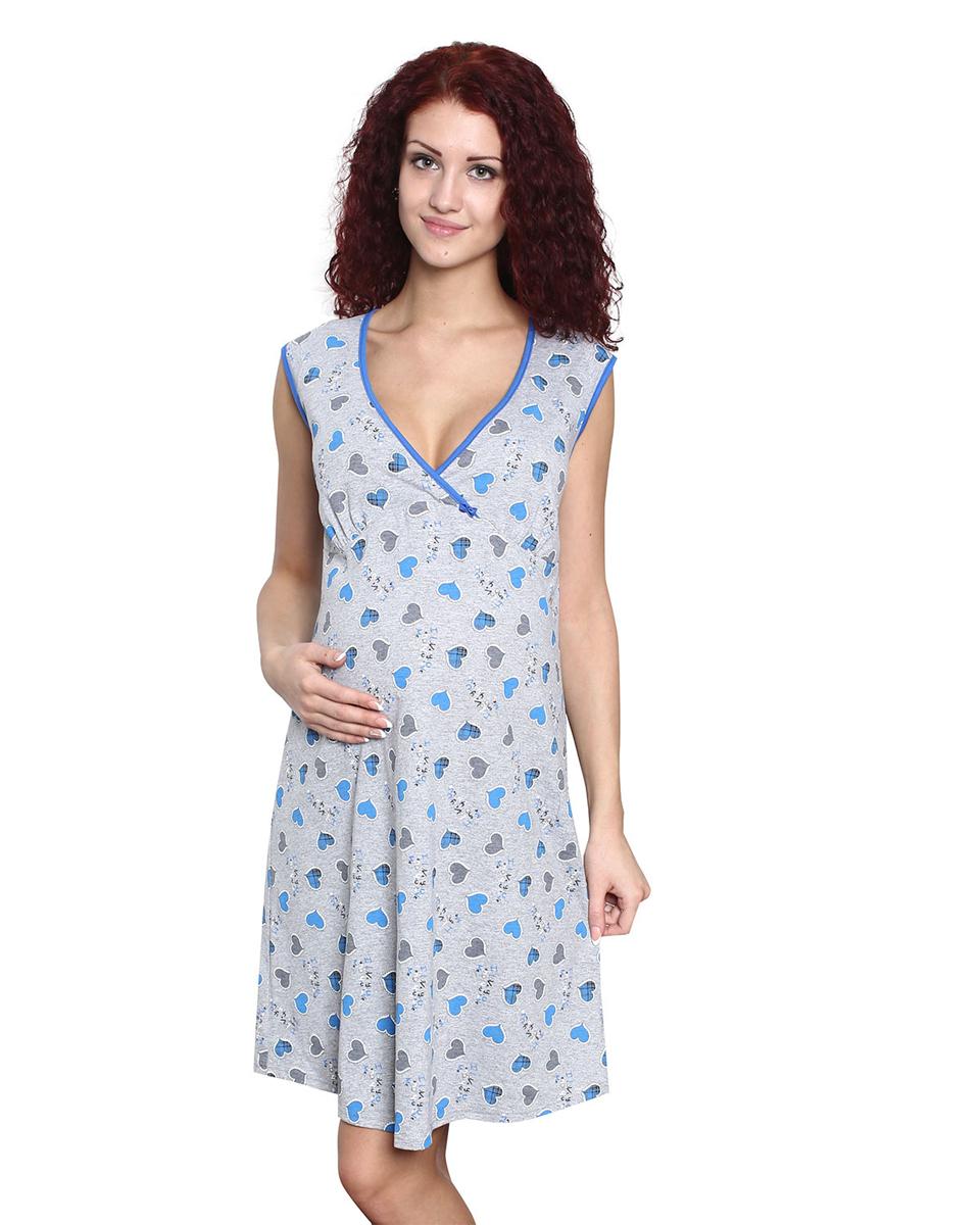 Ночная рубашкаП25504Сорочка ночная для беременных и кормящих мамочек идеально подойдет не только в период беременности, но и в период кормления малыша. Фэст — одежда по вашей фигуре.