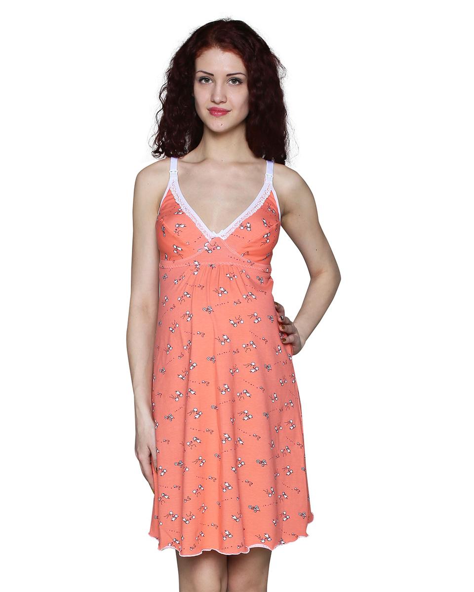 Ночная рубашкаП46505Сорочка ночная для беременных и кормящих мамочек идеально поддерживает грудь. Удобна в эксплуатации за счет застежки на спинке. Фэст - одежда по вашей фигуре.