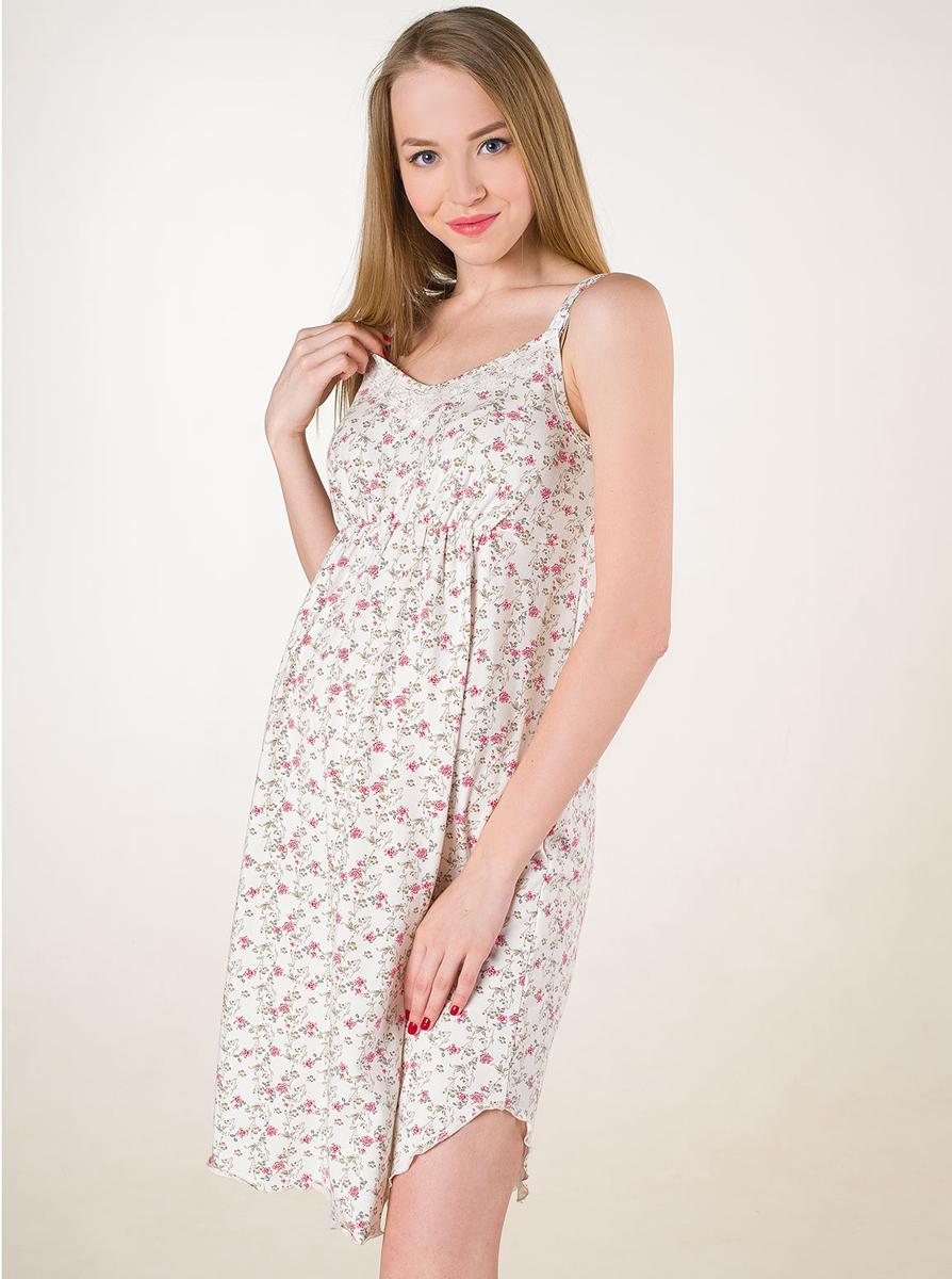 П61504Удобная ночная сорочка для беременных и кормящих мамочек. Отстегивающаяся клипса позволит комфортно кормить малыша. Фэст — одежда по вашей фигуре.