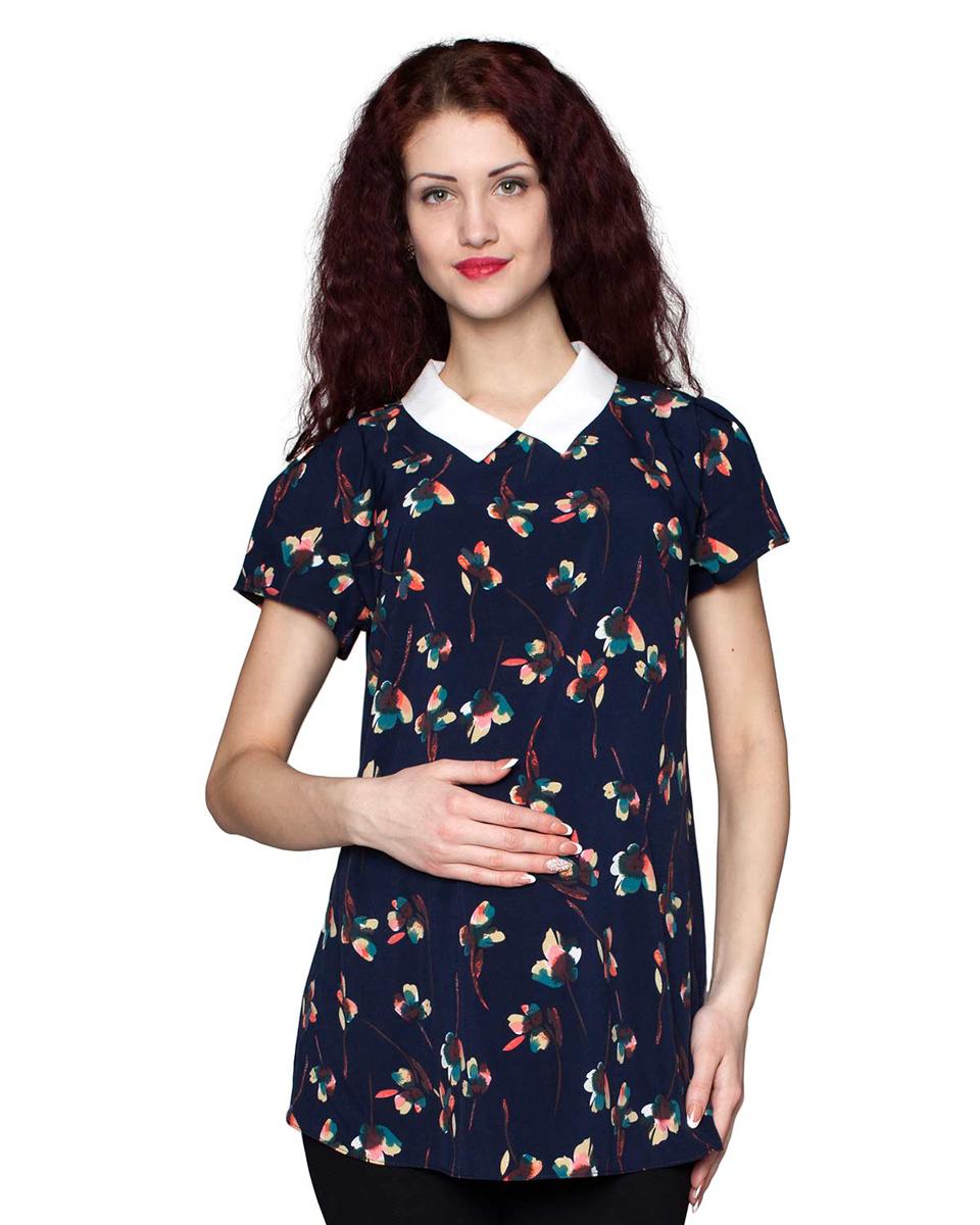 Блузка3-173518АБлузка женская для беременных из легкой ткани нежной расцветки. Модель прекрасно сочетается с брюками, шортами и юбками. Фэст - одежда по вашей фигуре.