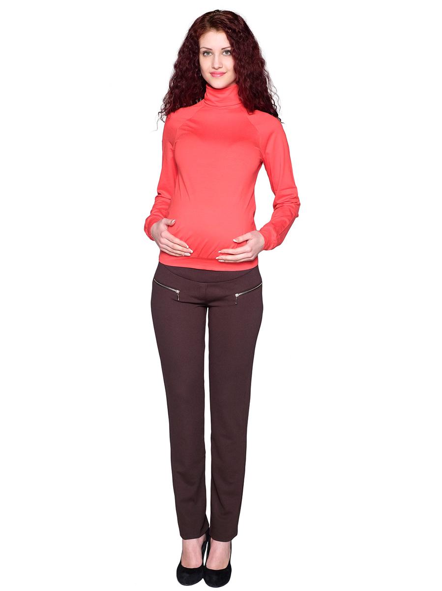 Брюки105507Классические брюки из плотного трикотажного полотна. Эластичная вставка на поясе с регулируемой резинкой обеспечит комфорт растущему животику. Фэст — одежда по вашей фигуре.