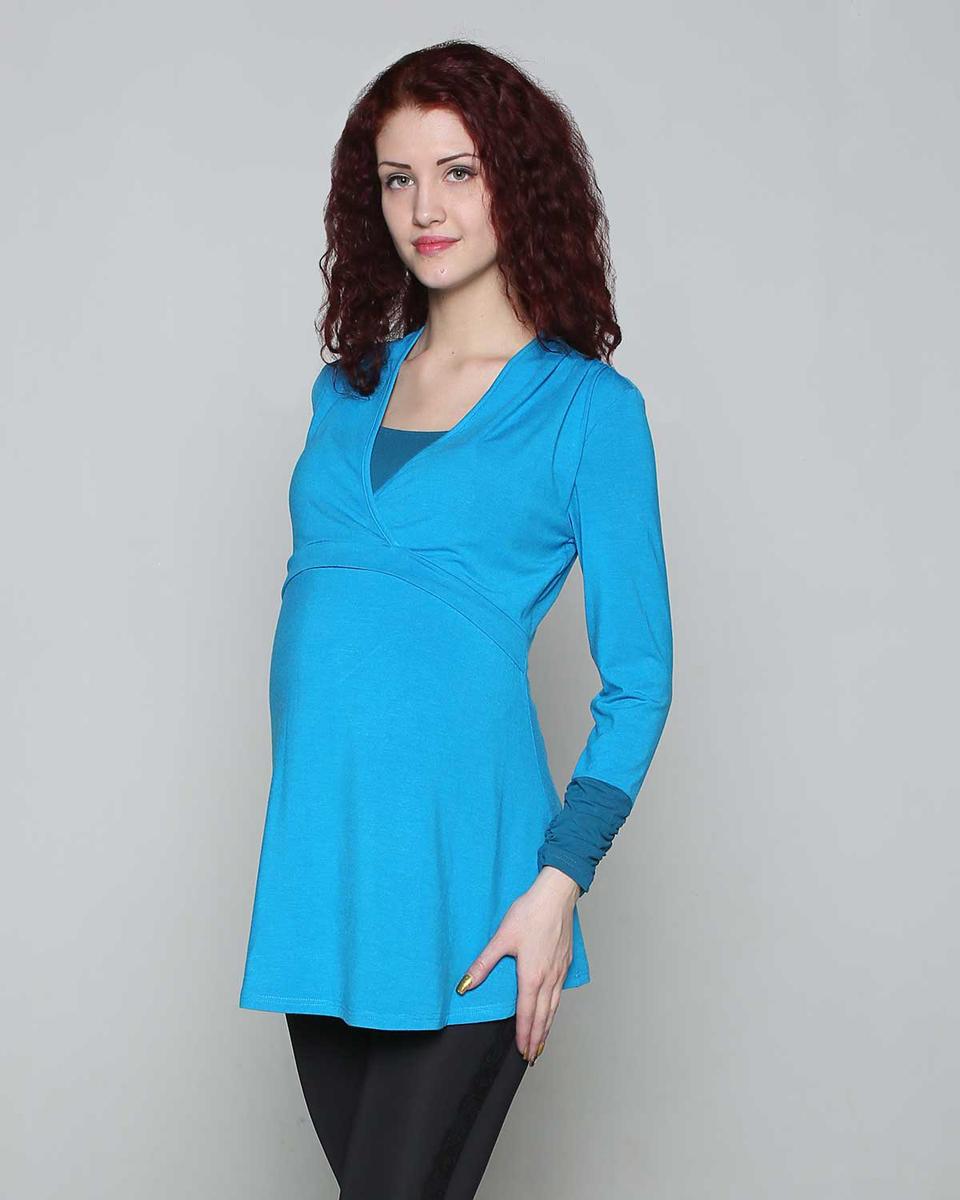 Джемпер189514ЕДжемпер для беременных и кормящих мамочек выполнен в комбинации однотонных полотен. Кокетка на запах, под которой расположен секрет для кормления. Фэст - одежда по вашей фигуре.