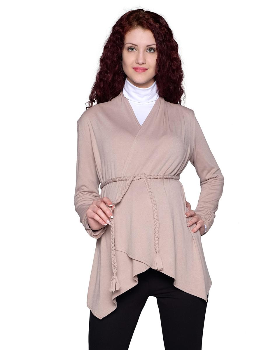 53514ЕПрекрасный жакет с асимметричной линией низа, благодаря свободному крою, станет отличным дополнением Вашего casual-гардероба в период беременности и после рождения малыша. ФЭСТ-одежда по Вашей фигуре.