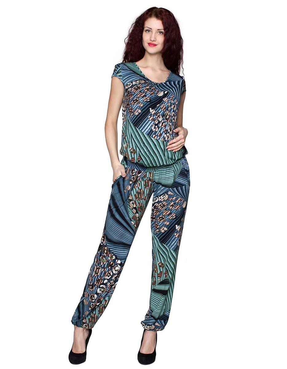 3-206509Летний свободный комбинезон для беременных. Модель имеет мягкую эластичную резинку под живот и карманы. ФЭСТ-одежда по Вашей фигуре.