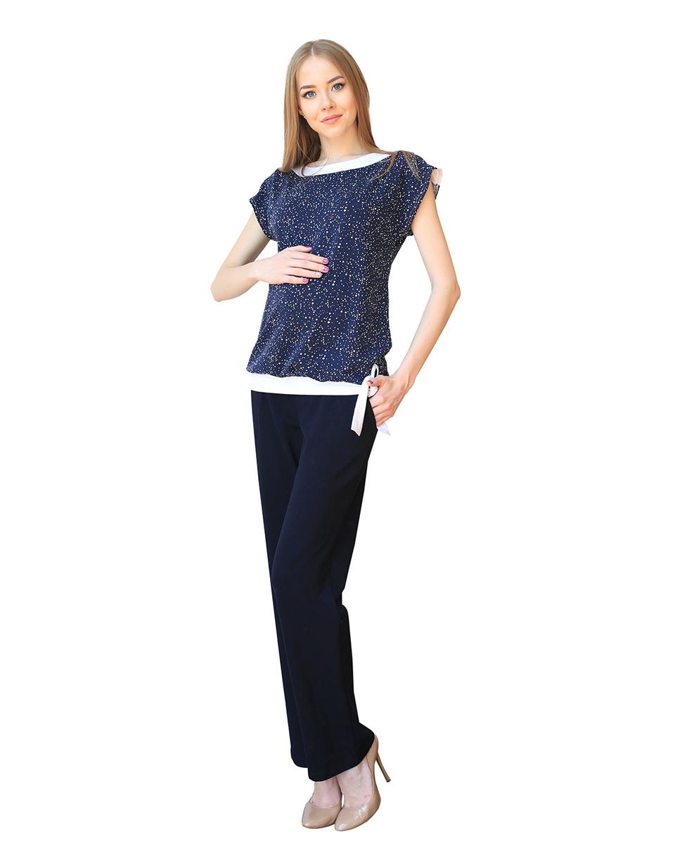 П57505КСтильный комплект для дома и прогулок состоит из футболки и брюк. Свободный крой обеспечит комфорт в ожидании малыша и поможет скрыть временные недостатки фигуры после родов. Фэст - одежда по вашей фигуре.