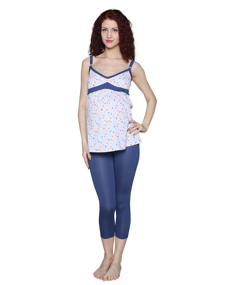 П24504ККомфортный комплект для беременных и кормящих мамочек состоит из леггинсов и майки на тонких бретелях с клипсами для удобства кормления малыша. Фэст — одежда по вашей фигуре.