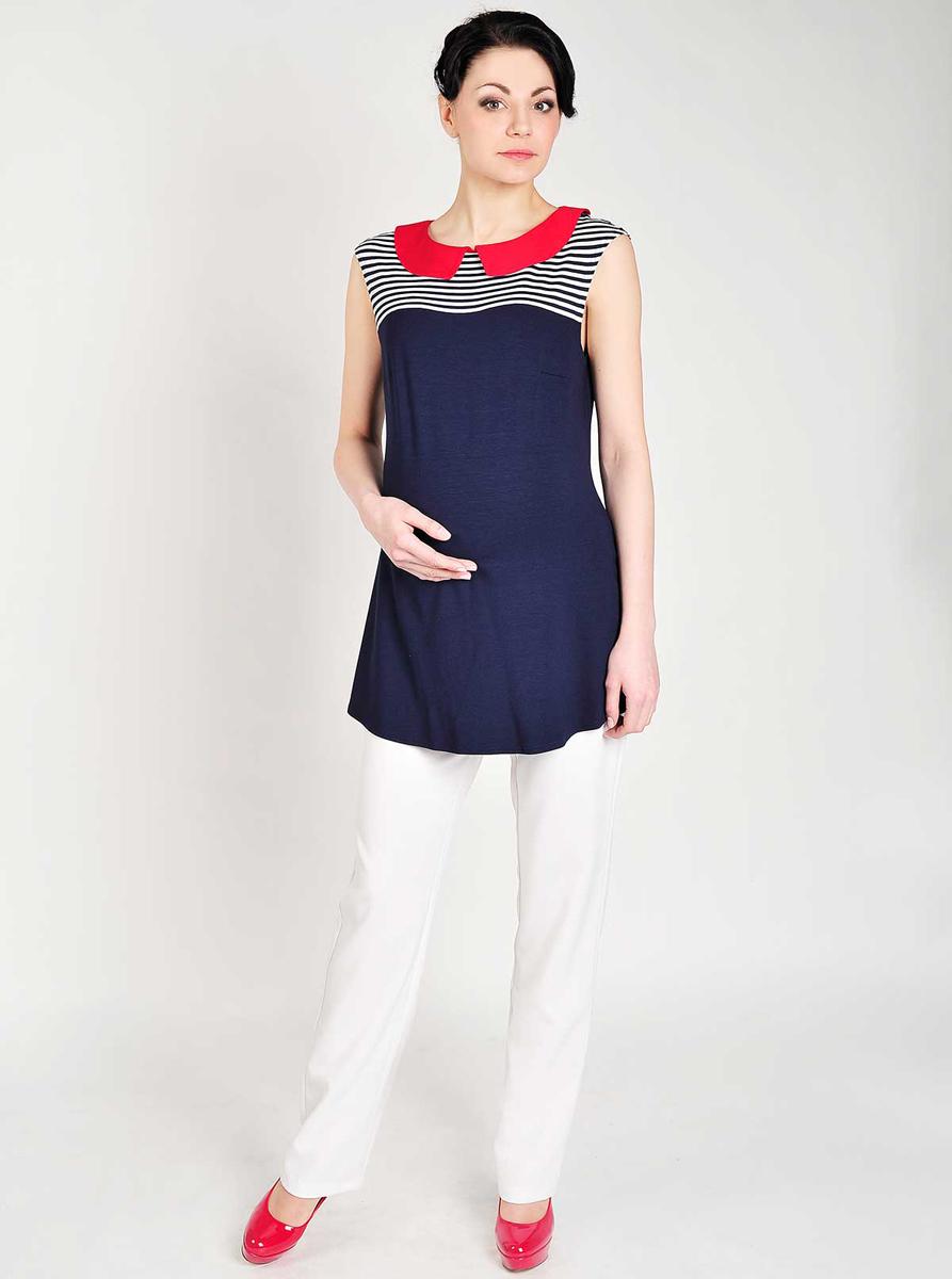 Туника50509Летняя туника, выполненная в морском стиле, удачно сочетается с брюками и шортами. Фэст — одежда по вашей фигуре.