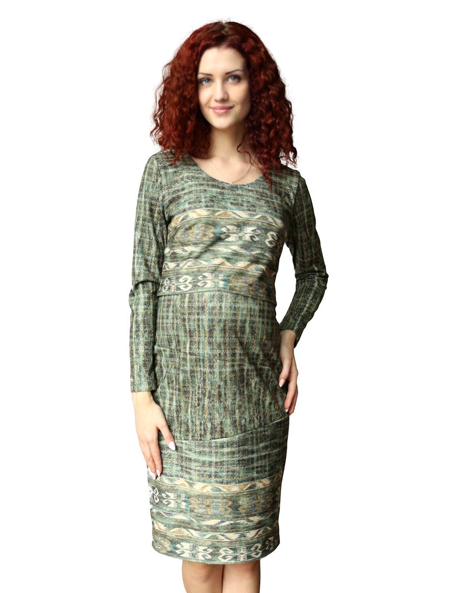 Платье140507НЕПлатье женское для беременных и кормящих благодаря своему покрою позволяет носить его как в период беременности, так и в период кормления малыша. Функциональность модели скрыта под отлетной кокеткой. Фэст - одежда по вашей фигуре.