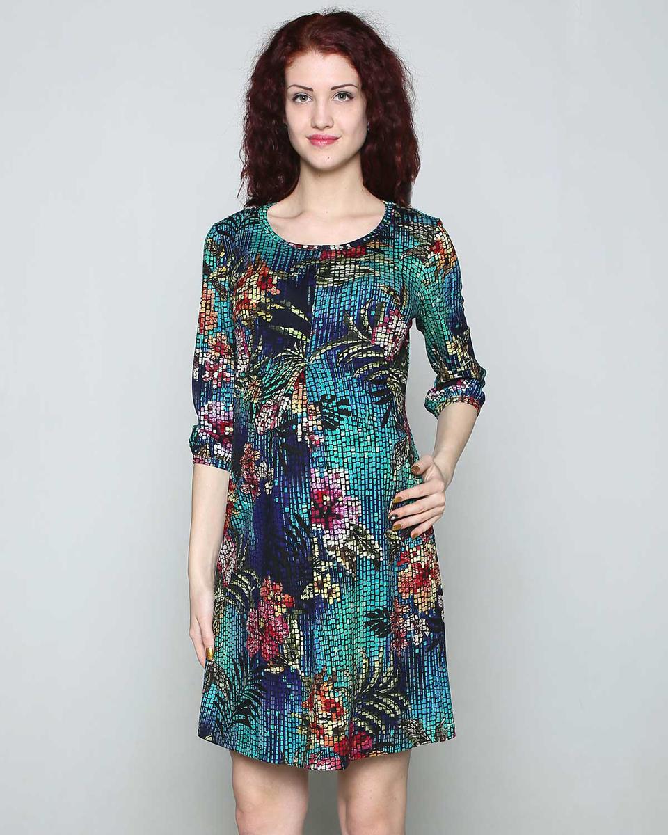 110507ВЯркое повседневное платье для беременных станет любимым предметом вашего гардероба. Складка на животе обеспечит комфорт растущему животику. Фэст — одежда по вашей фигуре.