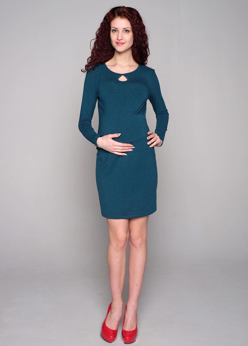 Платье58514ЕОтличный casual-вариант - платье классического полуприлегающего силуэта. Округлый вырез горловины украшен кокетливой капелькой. Двойная вставка-пояс обеспечивает поддержку под живот. Фэст - одежда по вашей фигуре.