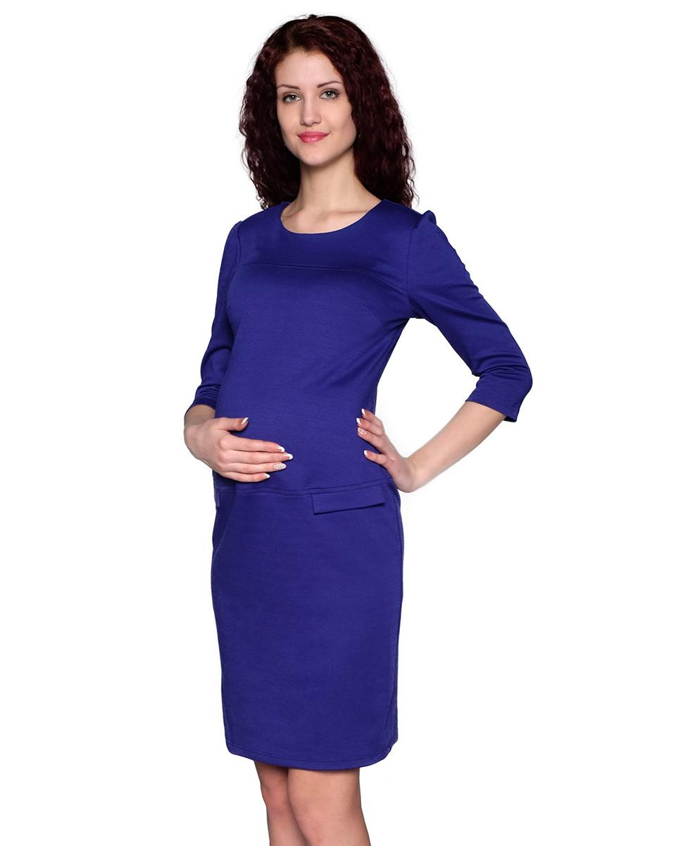 122507ВИзящное платье классического покроя с рукавом три четверти и округлым вырезом горловины выполнено из однотонного полотна. Простой и стильный фасон - отличный офисный вариант. Фэст - одежда по вашей фигуре.