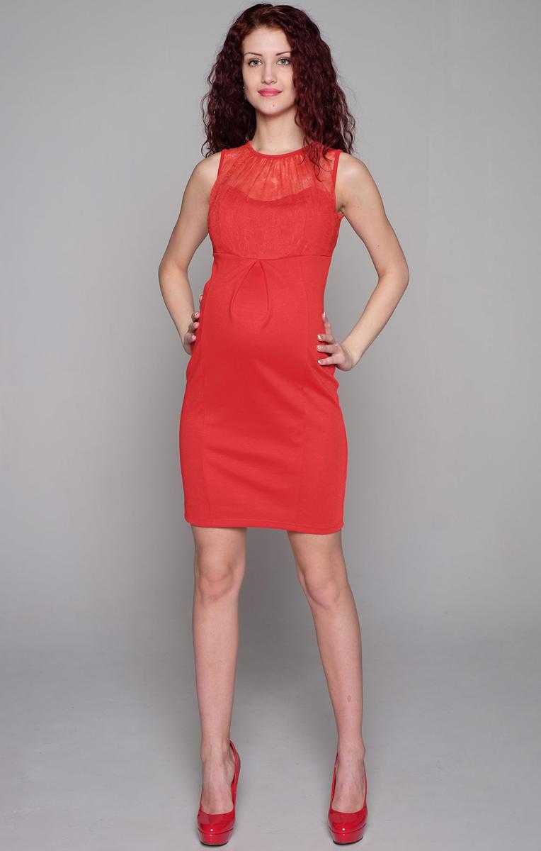 Платье159507Прелестное платье прилегающего силуэта для создания элегантного образа. Модель без рукавов с кружевной кокеткой и сборкой по горловине. Фэст - одежда по вашей фигуре.