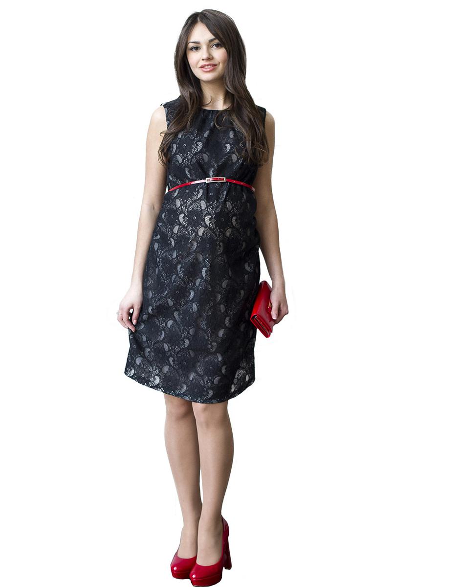 114518Платье-футляр без рукава, выполнено из кружевного полотна и дополнено ярким пояском. Объем на животик обеспечен сборкой по боковым швам. Замечательный вариант на выход и для повседневной носки. Фэст - одежда по вашей фигуре.