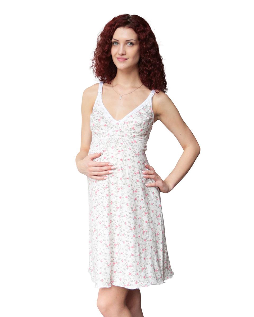 П46505Сорочка ночная для беременных и кормящих мамочек идеально поддерживает грудь. Удобна в эксплуатации за счет застежки на спинке. Фэст - одежда по вашей фигуре.