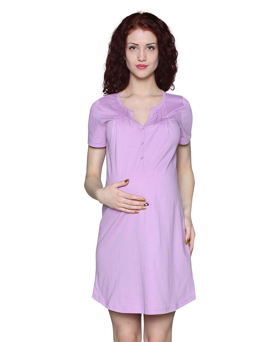 П73504АУдобная ночная сорочка для беременных и кормящих мамочек. Застежка на кнопки позволит кормить малыша не испытывая при этом дискомфорта. Фэст — одежда по вашей фигуре.