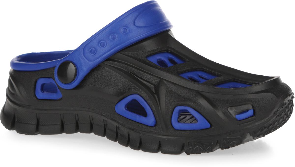 100476Чудесные и очень легкие сабо от Mursu, выполненные полностью из ЭВА материала в контрастных цветах с отверстиями для лучшей воздухопроницаемости - это превосходный вид обуви для вашего ребенка. Пяточный ремешок можно убирать вперед или носить на пятке. Рифление на верхней поверхности подошвы предотвращает выскальзывание ноги. Рельефное основание подошвы обеспечивает уверенное сцепление с любой поверхностью. Удобные сабо прекрасно подойдут для похода в бассейн или на пляж.