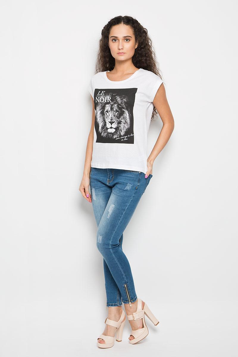 ФутболкаL-TS-2014_GREY_MELМодная женская футболка Moodo, выполненная из натурального хлопка, поможет создать отличный современный образ в стиле Casual. Футболка свободного кроя с круглым вырезом горловины и короткими рукавами-кимоно спереди оформлена термоаппликацией с изображением головы льва. Рукава дополнена пристроченными отворотами. Такая футболка станет стильным дополнением к вашему гардеробу и подарит вам комфорт в течение всего дня.
