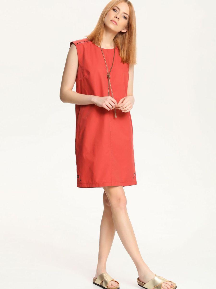 ПлатьеSSU1544CEПлатье Top Secret поможет создать стильный образ. Платье, изготовленное из хлопка с добавлением полиамида, гладкое и тактильно приятное, хорошо вентилируется. Модель с круглым вырезом горловины застегивается сзади на небольшую скрытую молнию. Изделие декорировано металлическими клепками. Такое платье займет достойное место в вашем гардеробе, а также подарит вам комфорт в течение всего дня.