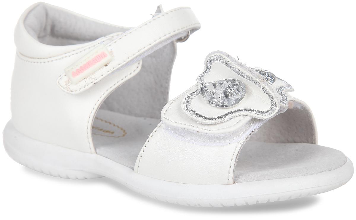 Сандалии для девочки. 13-33113-331Очаровательные сандалии от Аллигаша придутся по душе вашей маленькой принцессе и идеально подойдут для повседневной носки в летнюю погоду. Модель выполнена из искусственной кожи. Ремешок на подъеме декорирован прорезиненной нашивкой с названием бренда. Передний ремешок украшен оригинальной аппликацией, оформленной декоративными камнями. Полужесткий закрытый задник и ремешки на застежках-липучках надежно зафиксируют модель на стопе. Подкладка и стелька из натуральной кожи позволяют ножкам дышать. Супинатор на стельке обеспечивает правильное положение ноги ребенка при ходьбе, предотвращает плоскостопие. Подошва с рифлением в виде оригинального рисунка гарантирует отличное сцепление с любой поверхностью. Стильные и удобные сандалии - незаменимая вещь в гардеробе каждой девочки!