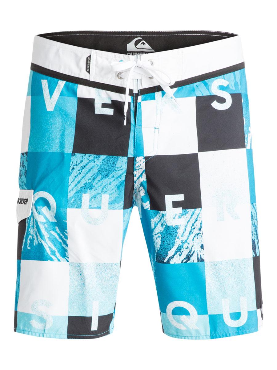 ШортыEQYBS03251-BMJ6Стильные мужские шорты Quiksilver выполнены из полиэстера. Шорты с поясом застегиваются на завязки-шнурки и липучки. Сбоку изделие дополнено одним прорезным карманом с клапаном на липучке. Модель декорирована принтовыми надписями.