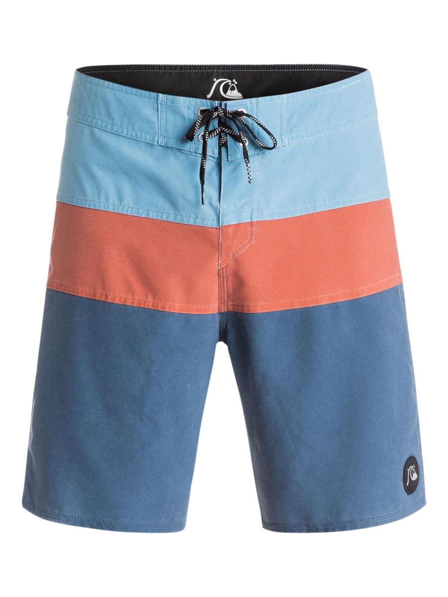 EQYBS03281-BRQ0Стильные мужские шорты Quiksilver выполнены из полиэстера с добавлением эластана. Шорты с поясом застегиваются на завязки-шнурки и липучки. Сзади изделие дополнено одним прорезным карманом на застежке-молнии. Модель декорирована принтом в виде полосок и небольшой нашивкой с логотипом бренда.