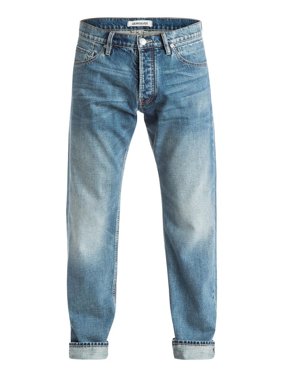 ДжинсыEQYDP03174-BLBWСтильные мужские джинсы Quiksilver, изготовленные из натурального хлопка застегиваются на пуговицу и ширинку на застежках-пуговицах, имеются шлевки для ремня. Спереди модель оформлена двумя глубокими вшитыми карманами и двумя небольшими секретными кармашками, а сзади - двумя накладными карманами.