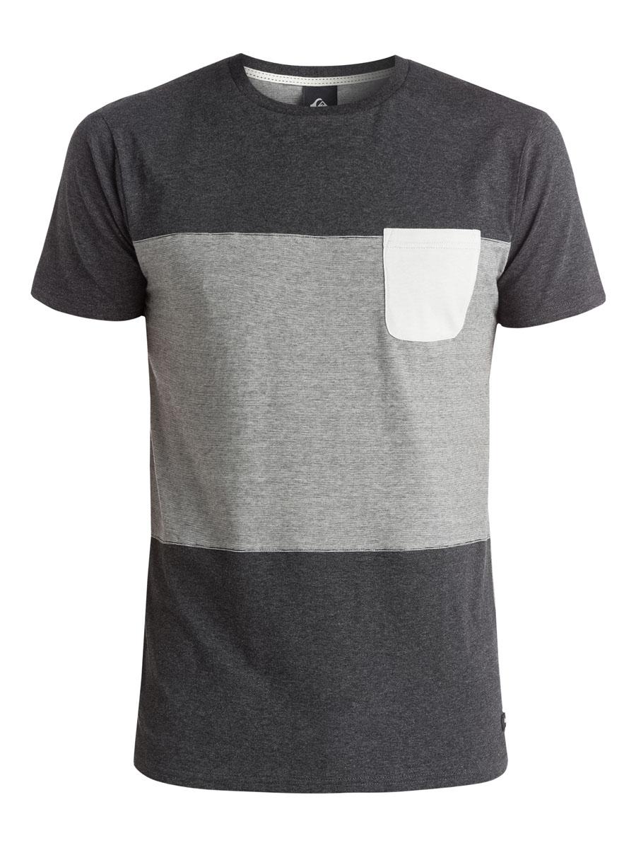 ФутболкаEQYKT03279-KTAHМужская футболка Quiksilver выполнена из натурального хлопка. Модель с круглым вырезом горловины и короткими рукавами дополнена накладным карманом на груди.